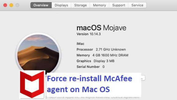 How to force re-install McAfee agent on Mac OS
