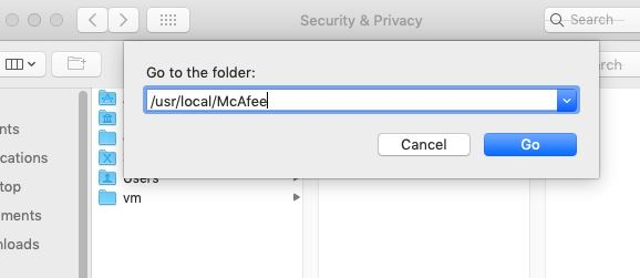 Shows how to grant full disk access to McAfee ENS services - Snap2